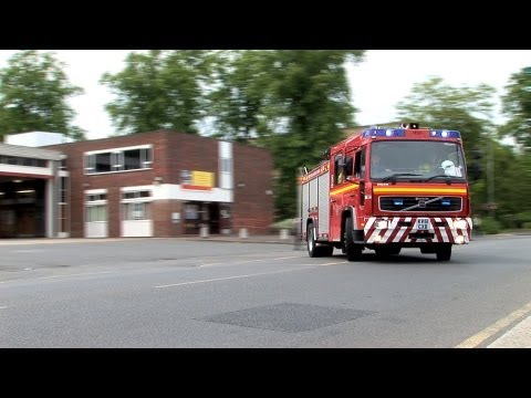 Petrol Tanker and Car RTC Mayday Incident Brooklands Surrey 2009 (long version)