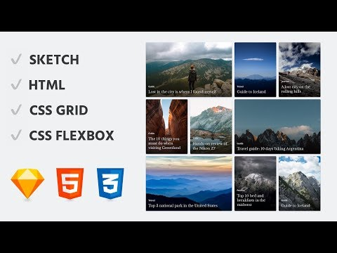 Sketch Design to Code: Responsive CSS Grid & Flexbox Layout Tutorial thumbnail