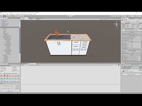 Unity Furniture Creator: create kitchen cabinet