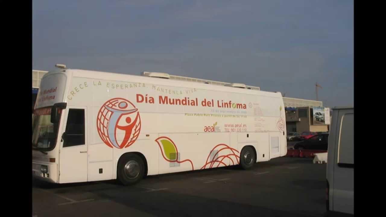 Autobus publicitario dia mundial del Linfoma ( Vehiculos publicitarios IPM3000 )