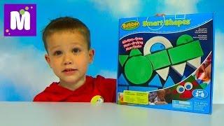 Умный пластилин - песок Баббер лепим паровоз и крокодила Waba Fun Smart Shapes Bubber