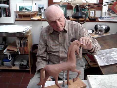 Weston Emmart, horse sculptor, artist, shows some current work.