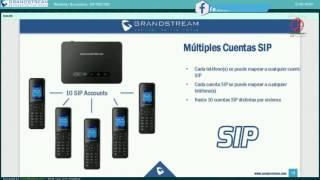 RE- YOUTUBE, Webinar sobre DP750 y DP720 en español- Grandstream.