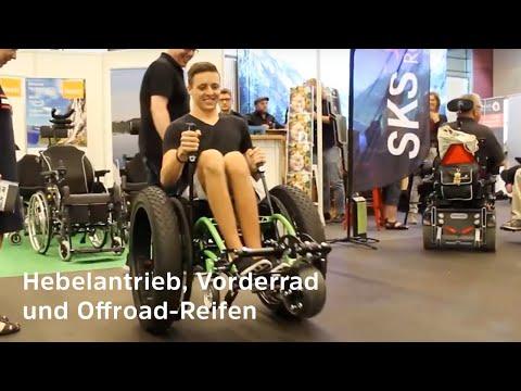 Offroad-Rollstuhl mit Hebelantrieb - FatWheels für Strand, Gelände und Festivals (2019)
