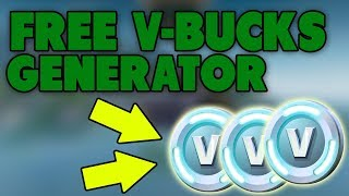 FREE V-BUCKS GENERATOR FOR FORTNITE BATTLE ROYALE... 😱 FAST MANY V-BUCKS!