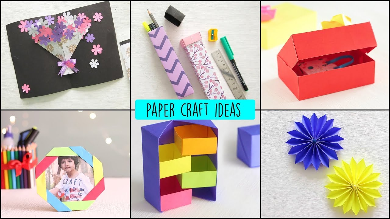 Diy Paper Crafts Ideas Handcraft Art And Craft Youtube