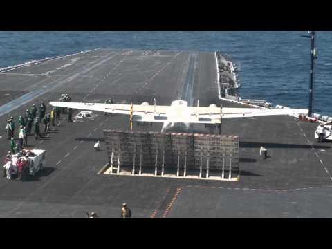USS Nimitz Catapult Takeoff Grumman C-2A