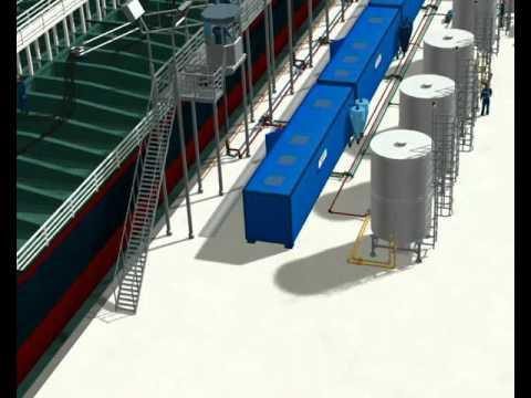 Flushing tankers oil
