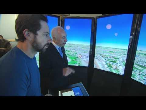 President Peres meets Sergey Brin at Google HQ - DP Yoram Banita for GPO