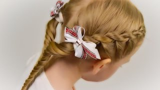 VERY EASY and SIMPLE: TWIST BRAID and FISH TAIL. Quick and Easy Hairstyle #32