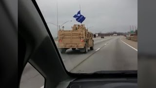 Trump flag spotted on US Navy convoy