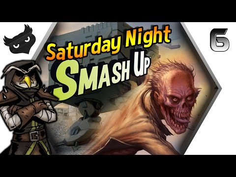 Saturday Night SMASH UP! #6 | ROBOT ZOMBIES! | Gameplay/Let'