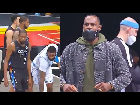 LeBron James IMPRESSED By Andre Drummond & Lakers Destroying Nets! Lakers vs Nets - CliveNBAParody