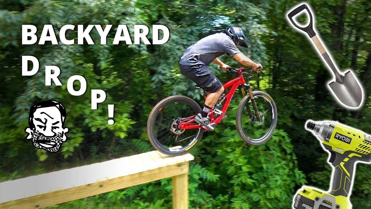 backyard north shore mtb drop building and riding youtube
