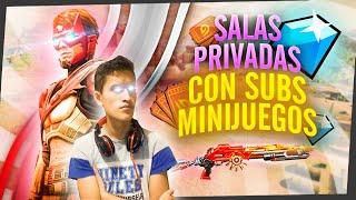 🔴DIRECTO FREE FIRE EN VIVO-SALAS PRIVADAS CON SUBS- PVPS Y MINIJUEGOS🔴