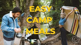 WHAT TO EAT WHÏLE CAMPING? | EASY MEALS | BREAKFAST LUNCH DINNER | by sun and the moon
