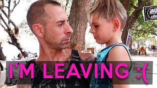 HE LEFT US!  Mom and 3 kids left in Lombok - Family Travel Vlog