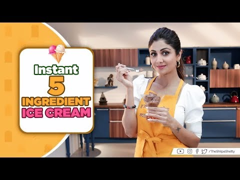 Instant 5 Ingredient Ice Cream | Shilpa Shetty Kundra | Healthy Recipes | The Art of Loving Food