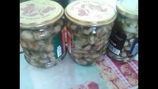 маринованые грибы шампиньоны на зиму