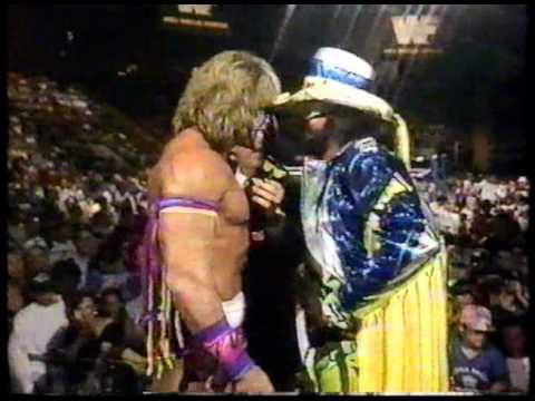 """Macho Man"" Randy Savage vs The Ultimate Warrior Promo"