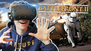 PLAY STAR WARS: BATTLEFRONT IN VIRTUAL REALITY! | Star Wars Battlefront 2 VR (HTC Vive Gameplay)