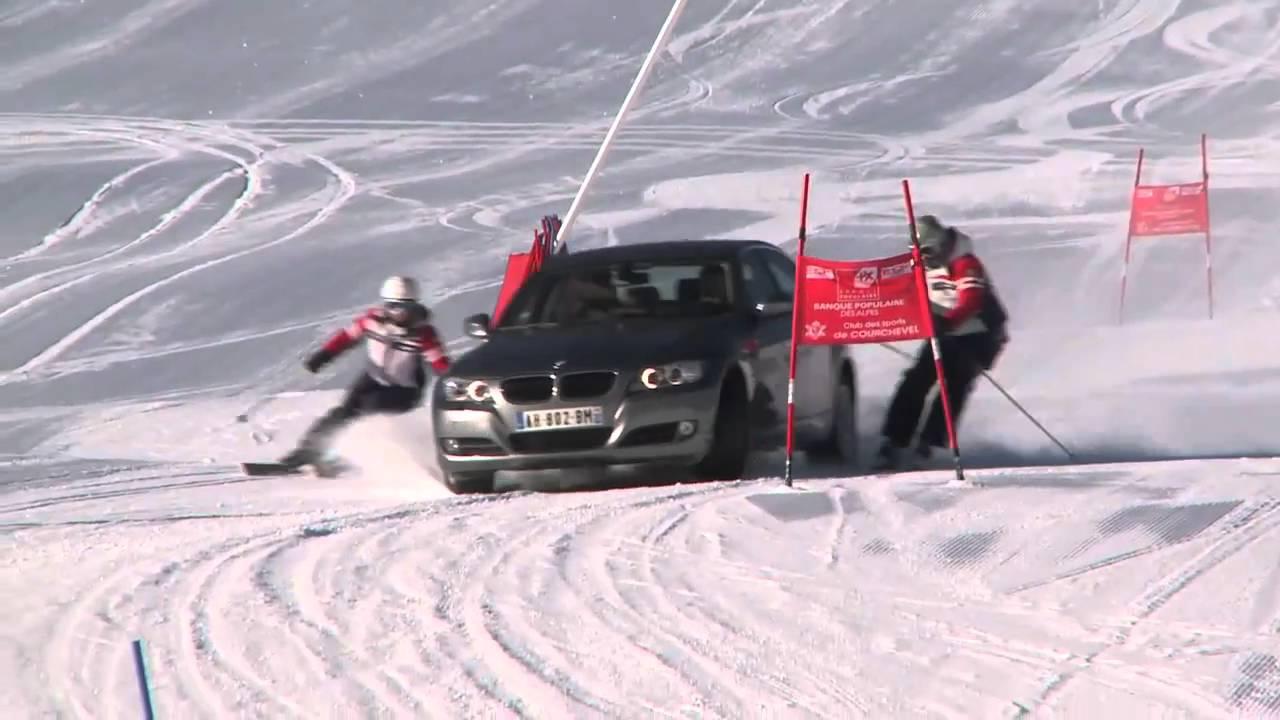 Courchevel la bmw 320 xdrive sur la piste de la coupe du monde de ski alpin youtube - Coupe du monde de ski courchevel ...