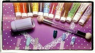 видео Акриловые краски для дизайна ногтей.