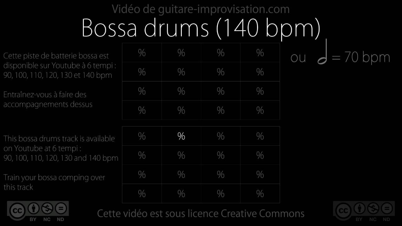 Bossa Nova Drums 140 Bpm Youtube