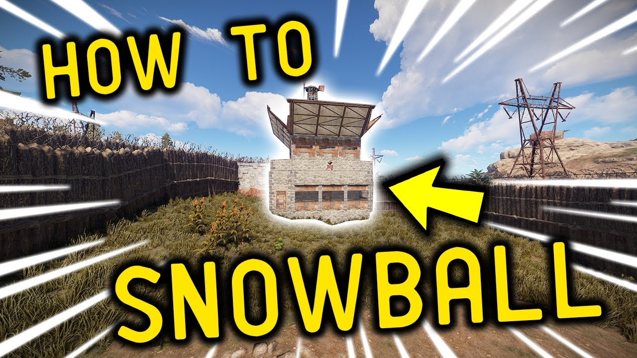 How to SNOWBALL in RUST!! - Rust Funny Moments