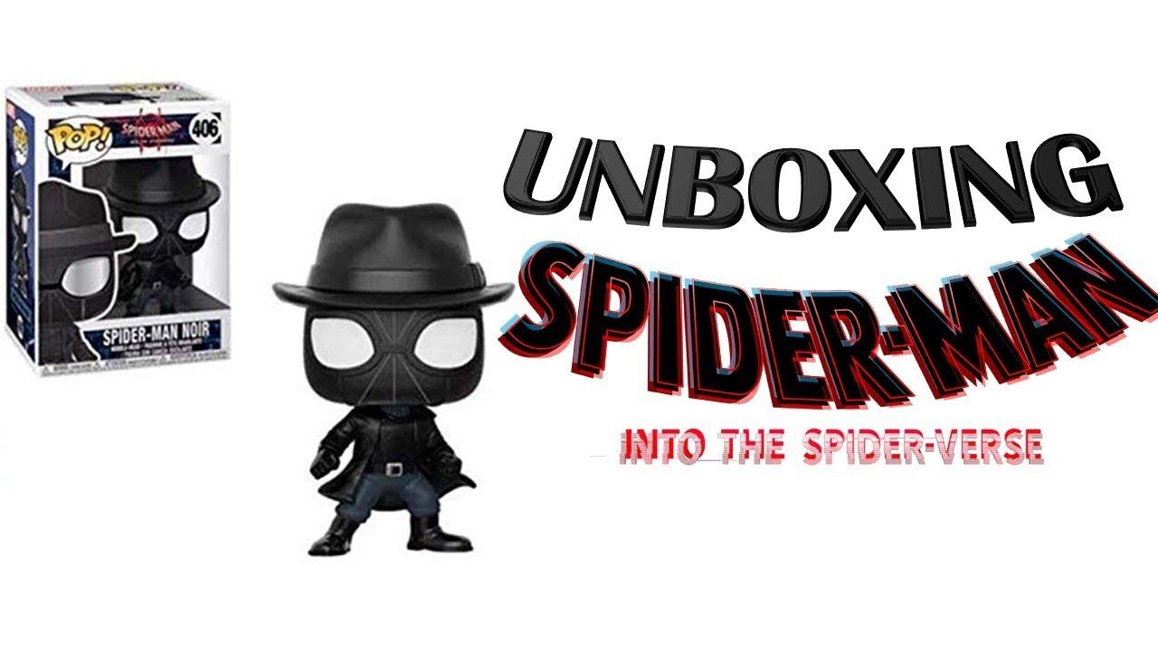 Spiderman noir with hat 406 Spider-verse Marvel  NEW!!! Funko POP