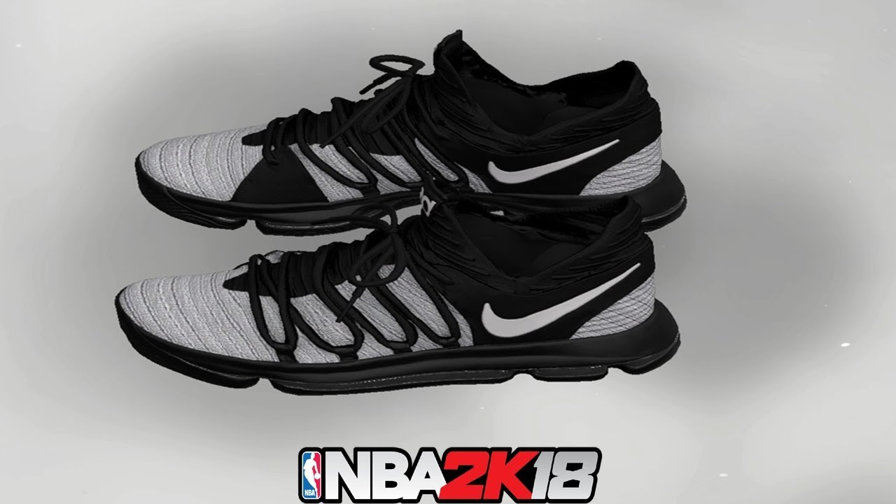 NBA 2K18 Shoe Creator ⋆#NBA2K18⋆ KD 10 Black / Grey