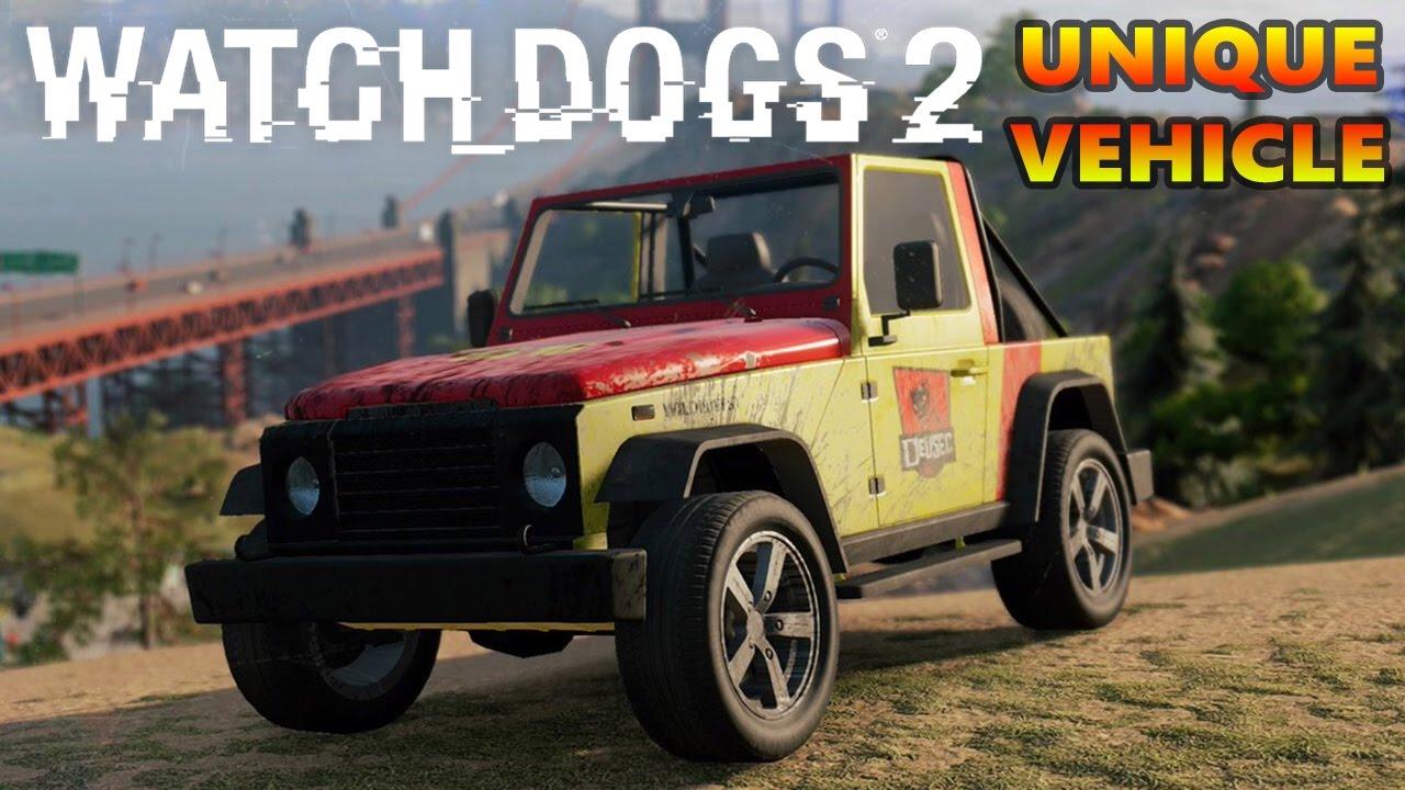 Watchdogs 2 - Secret Cars / Unique Vehicles #1- Locations Guide ...