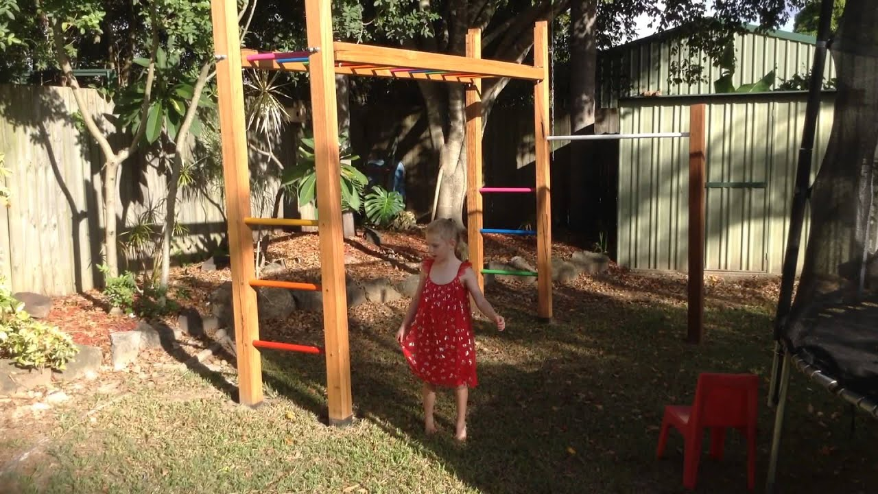 amelia on the monkey bars with a spider youtube