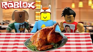 ROBLOX - RoPo TURNS INTO A THANKSGIVING BISCUIT PARTNER!!