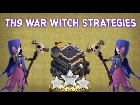 ||Th9 WAR WITCH STRATEGIES|| ||3 STARS ATTACKS REPLAYs||
