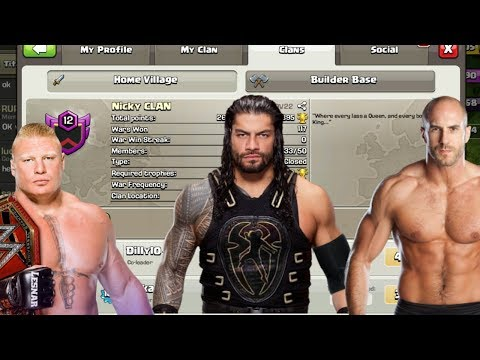 WWE SUPERSTARS REAL CLAN IN CLASH OF CLANS!! (PROOF)