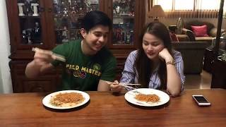 Rodjun Cruz and Dianne Medina Spicy Noodle Challenge