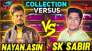 Sk Sabir Vs NayanAsin Gun Skin Collection Battle Gone Wrong  - Garena Free Fire