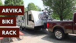Carry Four Bikes on a Travel Trailer!  - Arvika 7004 - Tongue Mount 4 Bike RV Rack