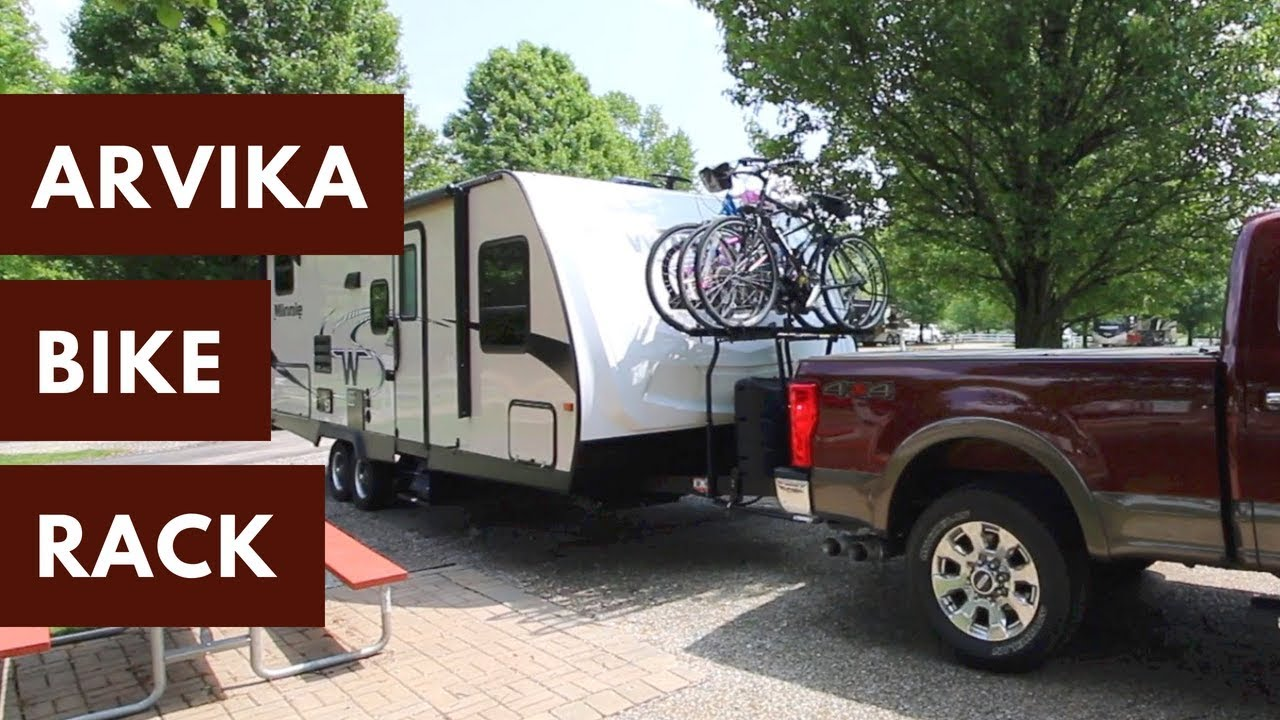 Carry Four Bikes On A Travel Trailer Arvika 7004 Tongue Mount 4
