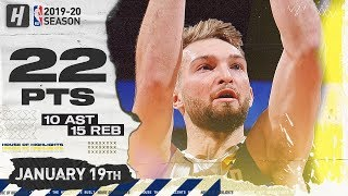 Domantas Sabonis TRIPLE-DOUBLE 22 Pts Full Highlights | Pacers vs Nuggets | January 19, 2020
