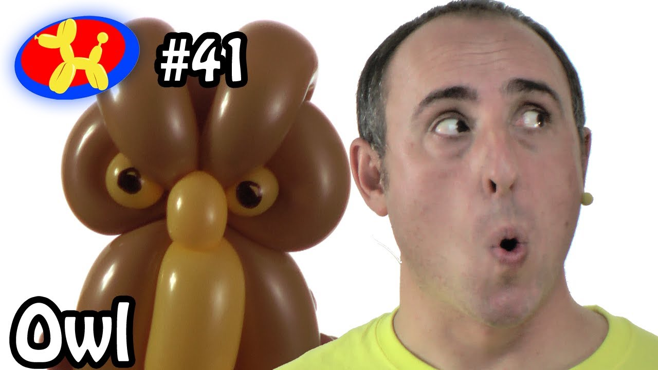 balloon owl balloon animal lessons 41 youtube