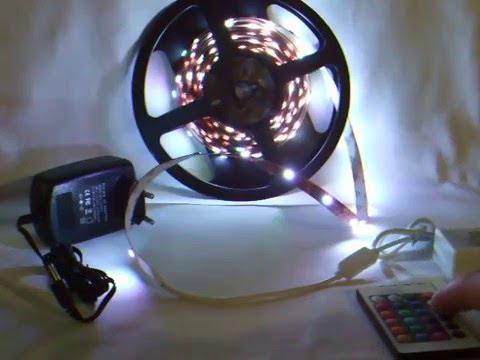 led lichterkette mit fernbedienung und netzteil youtube. Black Bedroom Furniture Sets. Home Design Ideas
