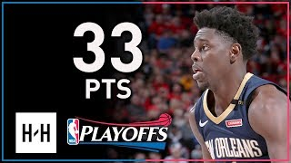 Jrue Holiday Full Game 2 Highlights Pelicans vs Blazers 2018 Playoffs - 33 Points, 9 Assists!