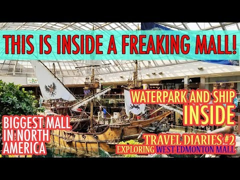EXPLORING THE BIGGEST MALL IN NORTH AMERICA! | WEST EDMONTON MALL TRAVEL DIARIES #2