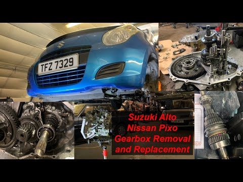 Suzuki Alto / Nissan Pixo Gearbox Removal Repair and Replacement