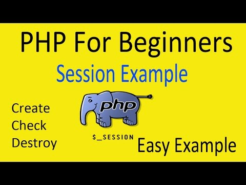 SESSION PHP FOR BEGINNERS - VERY EASY EXAMPLE