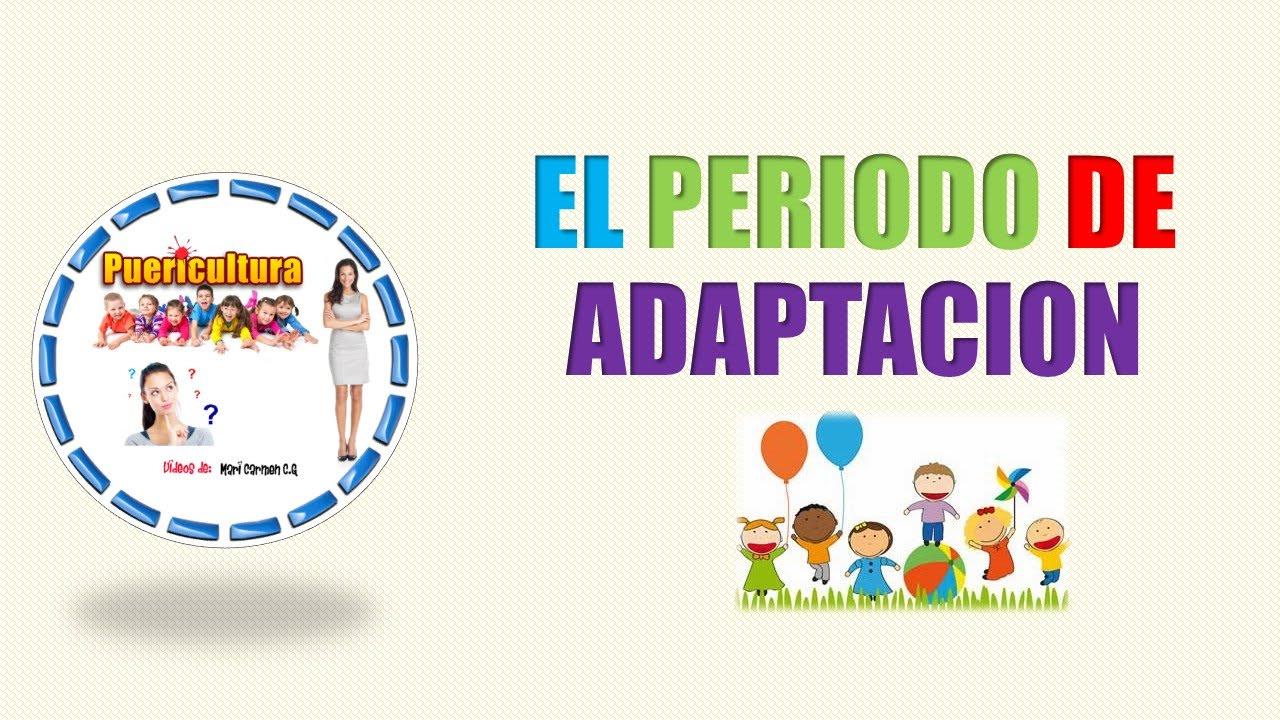 El periodo de adaptaci n en el primer ciclo de educaci n for Adaptacion jardin