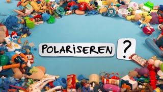 In deze Huh?! wordt uitgelegd wat polariseren is. Deze video komt uit de aflevering 'Het Kantoor 236'. Polariseren is een moeilijk woord, wat betekent het?