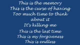 Mayday Parade - The Memory (lyrics)